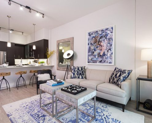 Kathy Andrew Interiors Multifamily Interior Design Model Units Millennium Rainey Street 7