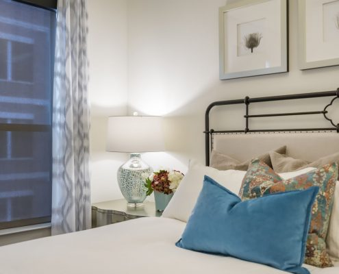 Kathy Andrews Interiors Alexan 5151 Multifamily Model Unit Bedroom 2