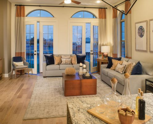 Kathy Andrews Interiors David Weekley Homes Southside Place Angelou 8609 Dallas TX Family Room