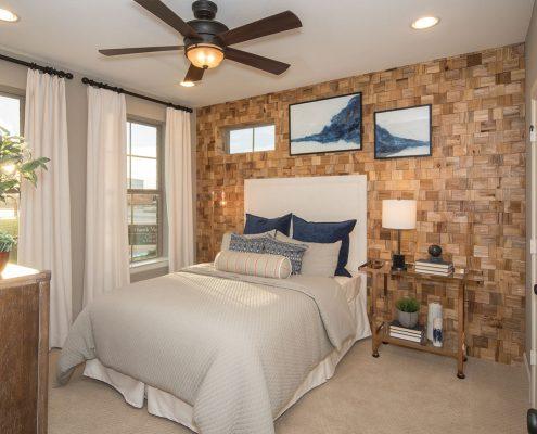 Kathy Andrews Interiors David Weekley Homes Southside Place Angelou 8609 Dallas TX Bedroom 2