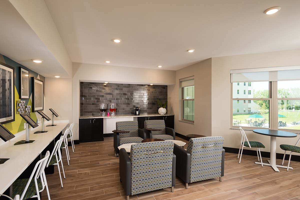 High Quality Kathy Andrews Interiors Student Housing Interior Design College Suites At Hudson  Valley Coffee Lounge