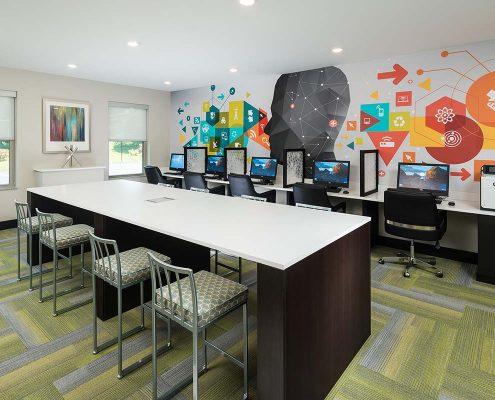 Kathy Andrews Interiors Student Housing Interior Design College Suites at Hudson Valley Digital Media Studio