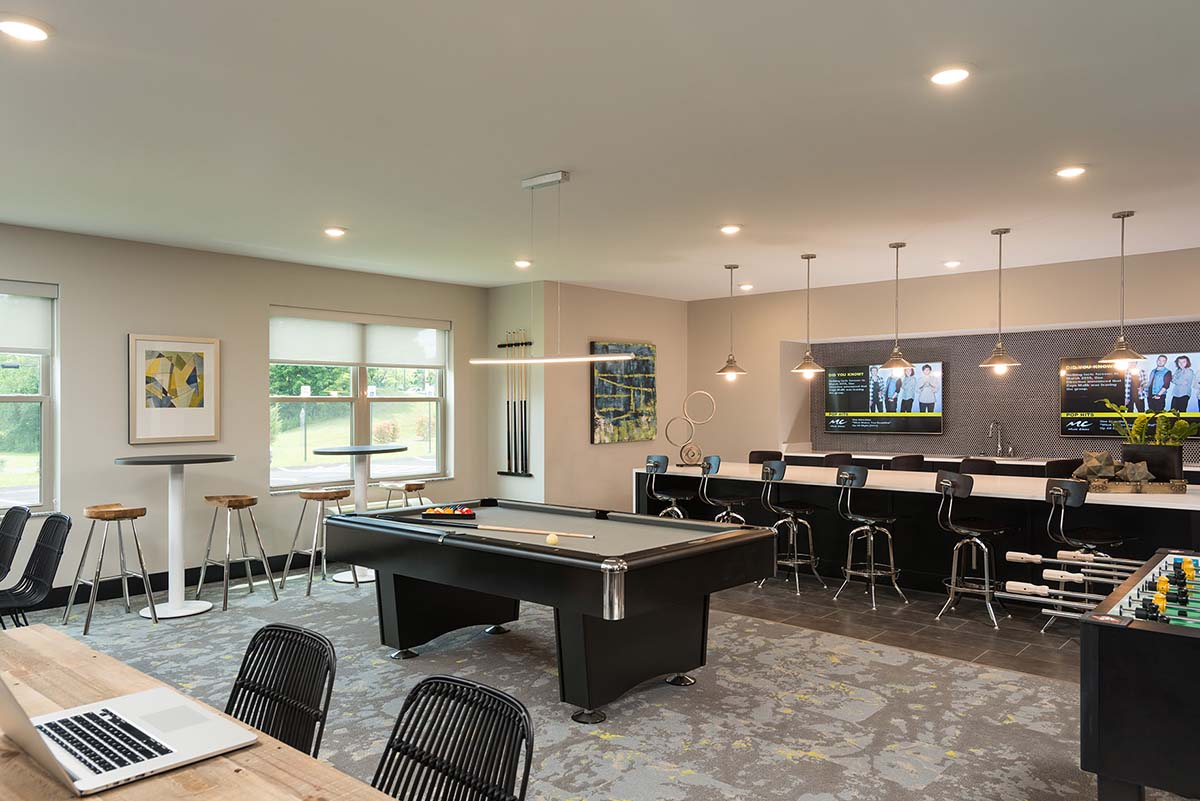 Charmant Kathy Andrews Interiors Student Housing Interior Design College Suites At Hudson  Valley Game Room