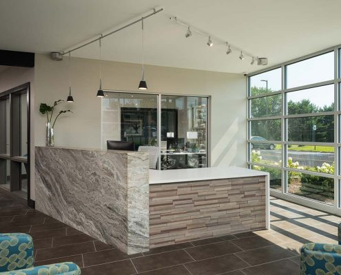 Kathy Andrews Interiors Student Housing Interior Design College Suites at Hudson Valley Reception