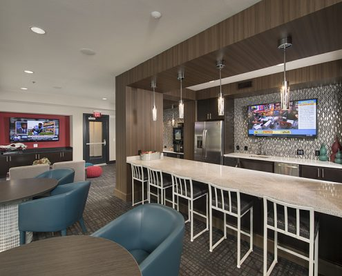 Kathy Andrews Interiors Student Housing Interior Design The Domain at Tallahassee Clubroom 4