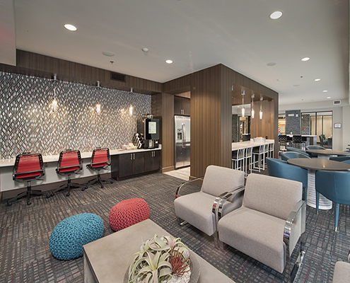 Kathy Andrews Interiors Student Housing The Domain At Tee Clubroom Cropped