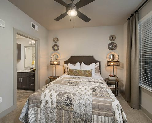 Kathy Andrews Interiors Multifamily Garden Style Interior Design SoCo at Tower Point 1B Bedroom