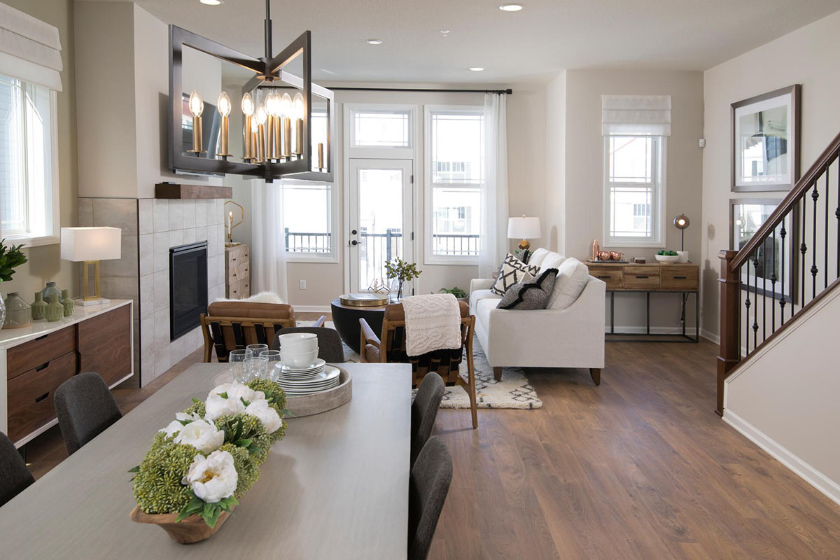 Kathy Andrews Interiors David Weekley Homes Donegal South 7737 Minneapolis  St. Paul Minnesota Living Room