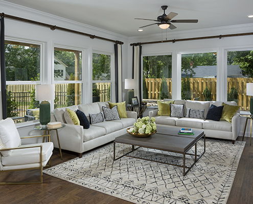 Kathy Andrews Interiors David Weekley Homes Belton Street 5773 Charlotte North Carolina Living Room CROPPED
