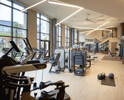Kathy Andrews Interiors High Rise & Mid Rise Interior Design Multifamily Leasing and Amenity Center Inspire Fitness