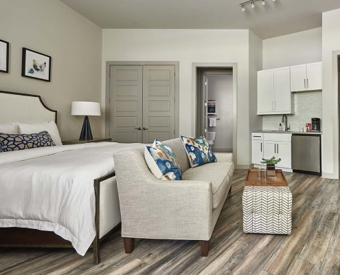 Kathy Andrews Interiors High Rise & Mid Rise Interior Design Multifamily Leasing and Amenity Center Inspire Guest Suite 2