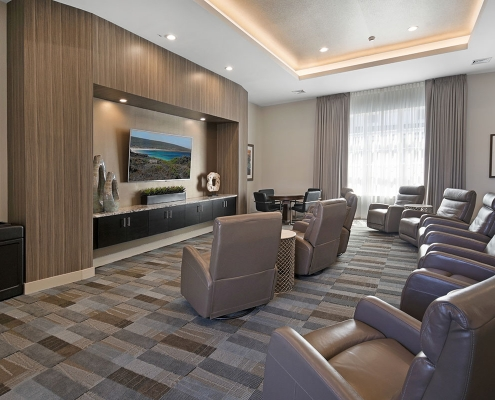 Kathy Andrews Interiors Multifamily Interior Design Leasing and Amenity Centers Woodmont Townsquare Theater