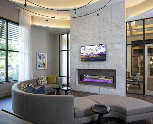 Kathy Andrews Interiors Parkside at Memorial Multifamily Leasing and Amenity Center Clubroom-1