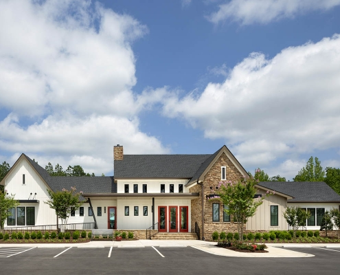 Kathy Andrews Interiors Active Adult Living Community Center Interior Design Encore at Briar Chapel Exterior