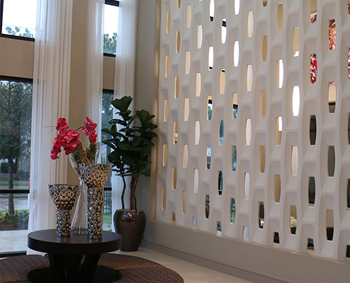 Kathy Andrews Interiors Multifamily Interior Design Leasing and Amenity Center Pearl Woodlake Lobby 2 Cropped