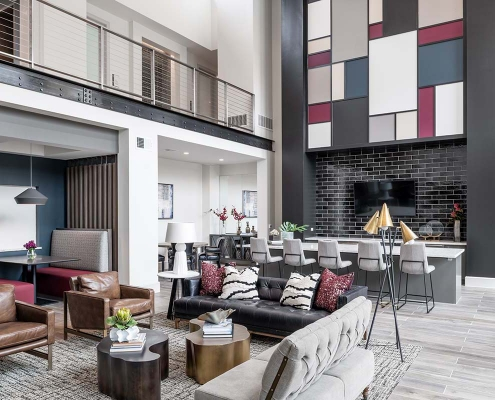 Kathy Andrews Interiors Multifamily Interior Design Leasing and Amenity Center Broadstone Traditions Clubroom 2 Cropped