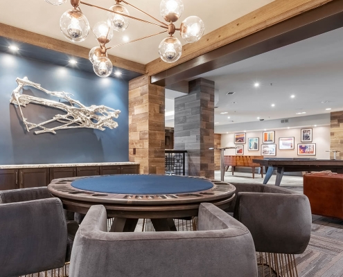 Kathy Andrews Interiors Multifamily Interior Design Leasing and Amenity Centers Luxe at Mile High Poker Room