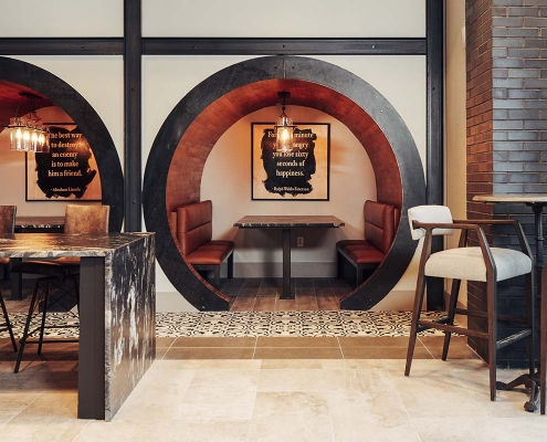 Kathy Andrews Interiors Multifamily Interior Design Leasing and Amenity Centers The Guthrie Club Room 3