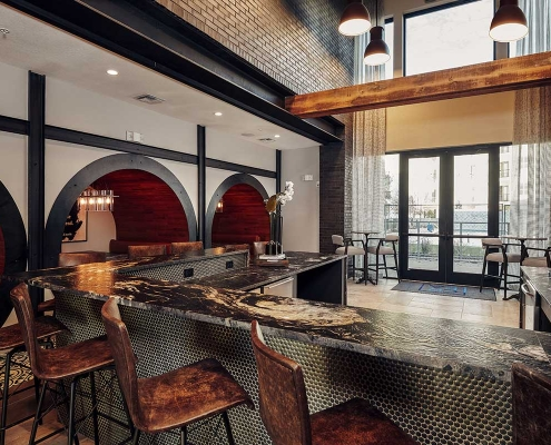 Kathy Andrews Interiors Multifamily Interior Design Leasing and Amenity Centers The Guthrie Club Room