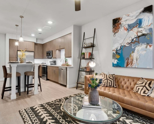 Kathy Andrews Interiors Multifamily Interior Design Model Units Gateway Arvada Ridge Model Unit 1