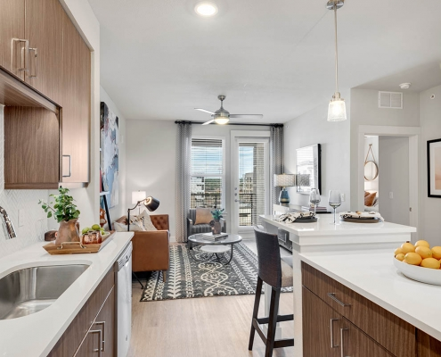 Kathy Andrews Interiors Multifamily Interior Design Model Units Gateway Arvada Ridge Model Unit 2