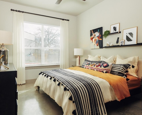 Kathy Andrews Interiors Multifamily Interior Design Model Units The Guthrie Bedroom 1