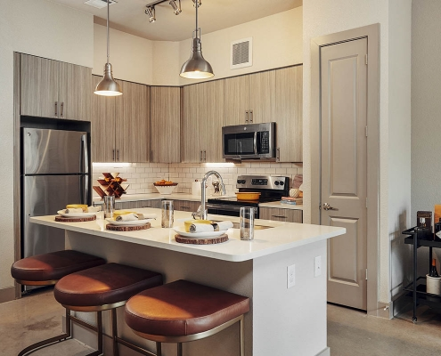 Kathy Andrews Interiors Multifamily Interior Design Model Units The Guthrie Kitchen 2