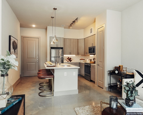 Kathy Andrews Interiors Multifamily Interior Design Model Units The Guthrie Kitchen
