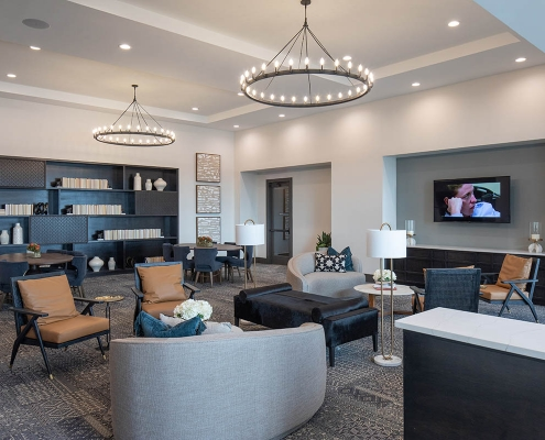 Kathy Andrews Interiors Multifamily Mid Rise and High Rise Interior Design 15th Street Flats Club Room 2