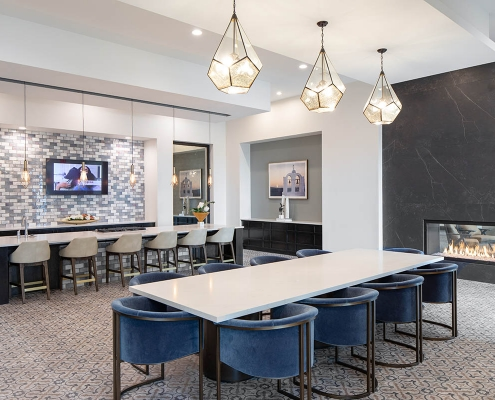 Kathy Andrews Interiors Multifamily Mid Rise and High Rise Interior Design 15th Street Flats Club Room 3