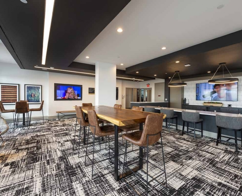 Kathy Andrews Interiors Student Housing Interior Design Aspire San Marcos Sky Lounge 2