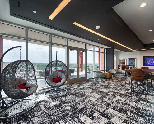 Kathy Andrews Interiors Student Housing Interior Design Aspire San Marcos Sky Lounge 3