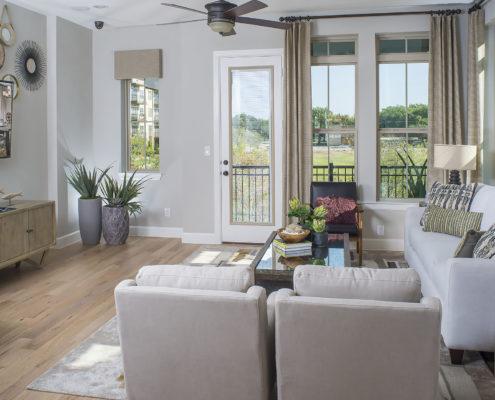 Kathy Andrews Interiors David Weekley Homes Parkside at Trinity Green Lambert 8673 Dallas TX Family Room