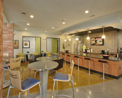 Kathy Andrews Interiors Asset Plus Student Housing Leasing and Amenity Center 25Twenty Lubbock TX Kitchen lo res