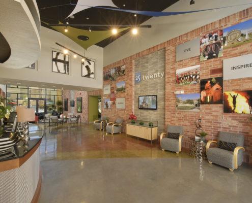 Kathy Andrews Interiors Asset Plus Student Housing Leasing and Amenity Center 25Twenty Lubbock TX Lobby lo res