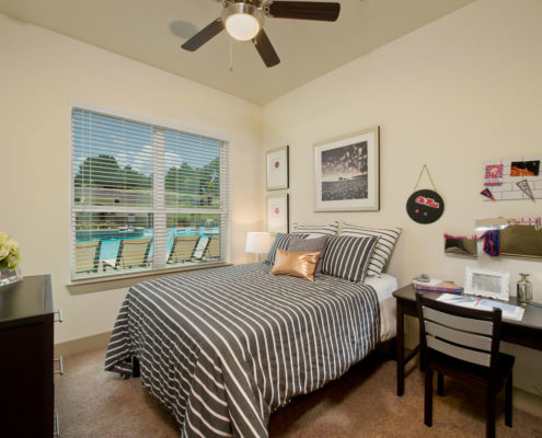 Kathy Andrews Interiors Asset Plus Student Housing The Domain at Oxford MS 2B Bed 1