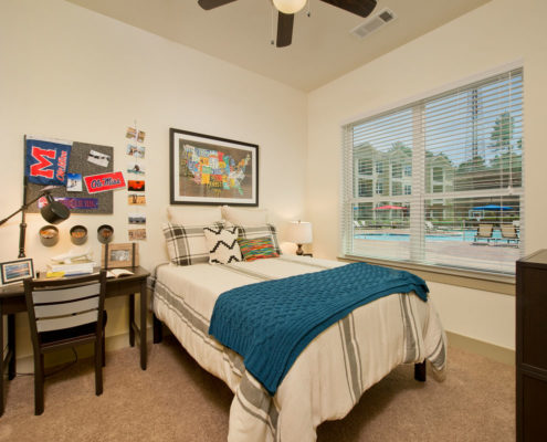 Kathy Andrews Interiors Asset Plus Student Housing The Domain at Oxford MS 2B Bed 2