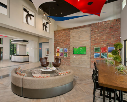 Kathy Andrews Interiors Asset Plus Student Housing The Domain at Oxford MS clubroom 2