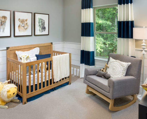 Kathy Andrews Interiors David Weekley Homes Chapel Run Pinegate 5748 Durham Baby's Room