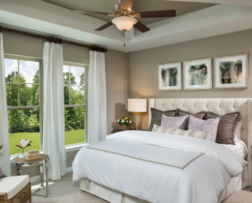 Kathy Andrews Interiors David Weekley Homes Chapel Run Pinegate 5748 Durham Master Bedroom
