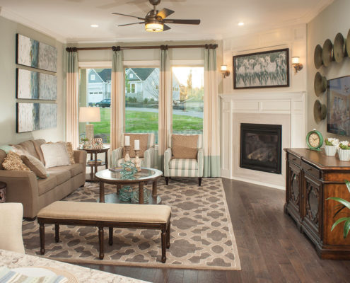 Kathy Andrews Interiors David Weekley Homes Montclair Honeycutt 5608 Wendell NC Living