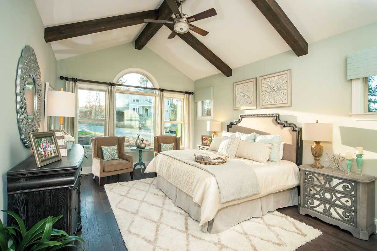 Kathy Andrews Interiors David Weekley Homes Montclair Honeycutt 5608 Wendell NC Master