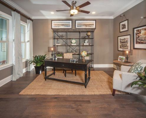 Kathy Andrews Interiors David Weekley Homes Montclair Honeycutt 5608 Wendell NC Study