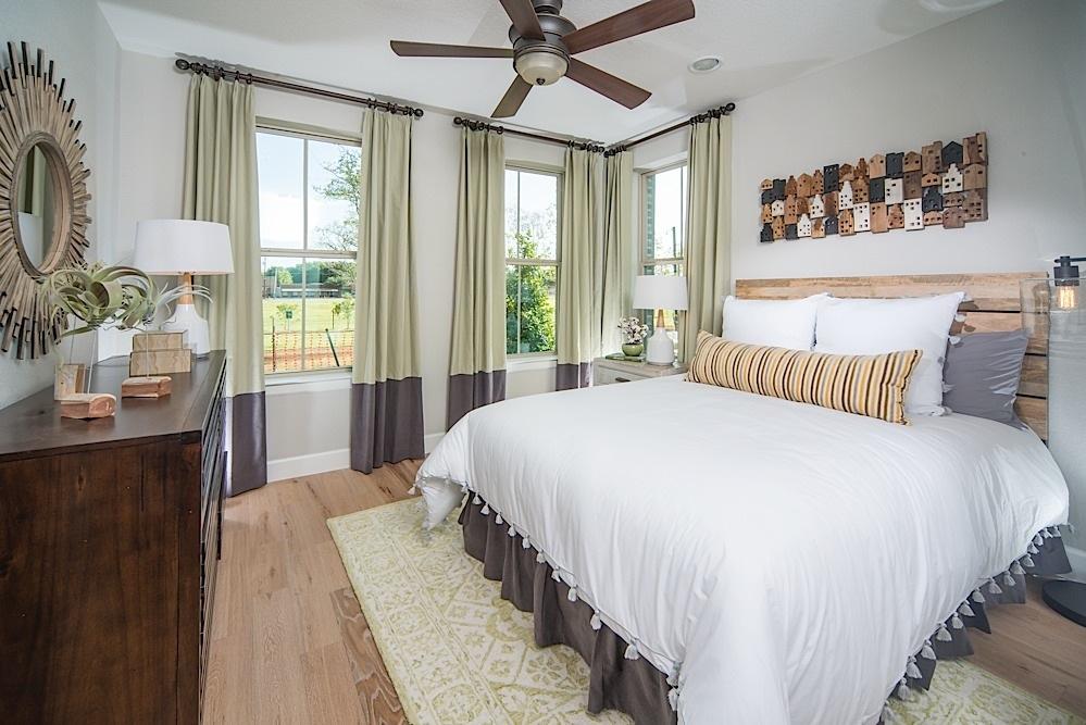 Kathy Andrews Interiors David Weekley Homes Parkside at Trinity Green Lambert 8673 Dallas TX Bedroom2