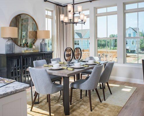 Kathy Andrews Interiors David Weekley Homes Parkside at Trinity Green Lambert 8673 Dallas TX Dining