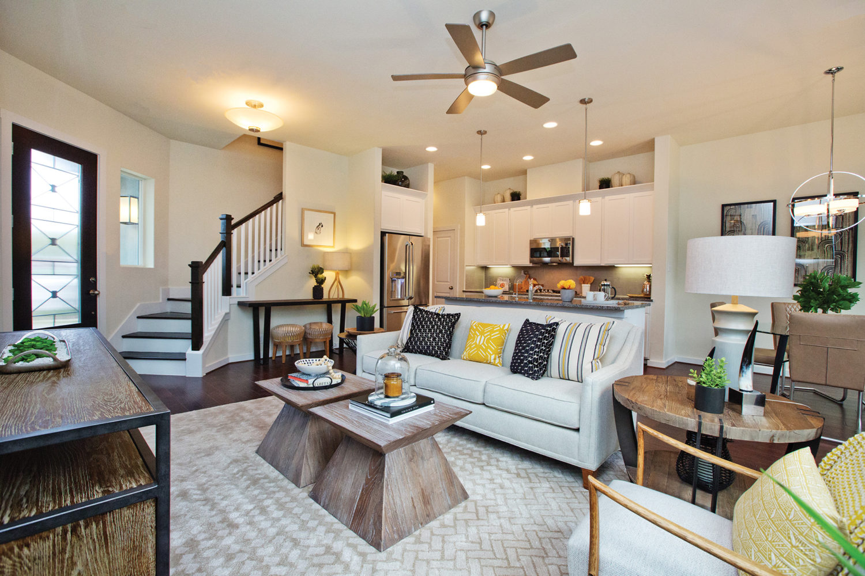 Kathy Andrews Interiors David Weekley Homes Villas at Roanoke Westworth 8677 San Antonio, TX Living