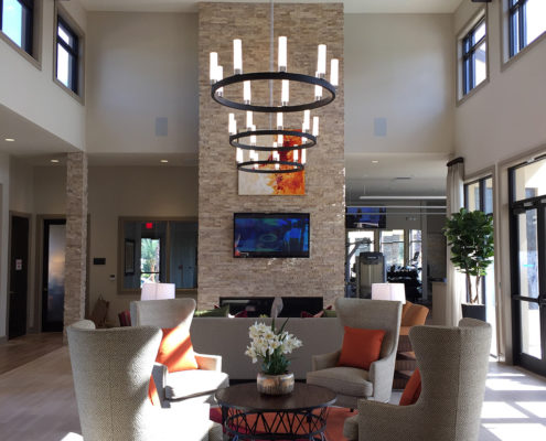 Kathy Andrews Interiors Fish Hawk Ranch Active Adult Living Community Amenity Center 1