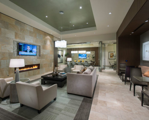 Multifamily Interior Design Kathy Andrews Interiors Hanover Post Oak Multifamily Leasing and Amenity Center lounge-1