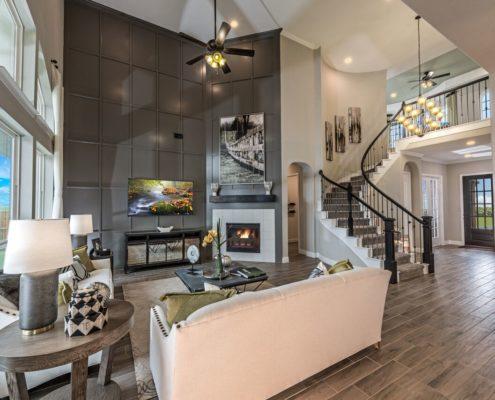 Kathy Andrews Interiors Landon Homes Lexington Country Heritage Series 432 Frisco Texas Living Room