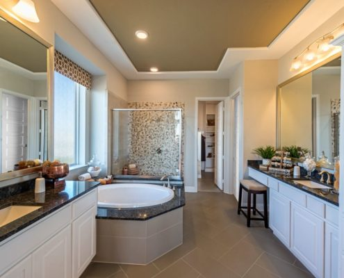 Kathy Andrews Interiors Landon Homes Lexington Country Heritage Series 450 Frisco Texas Master Bath